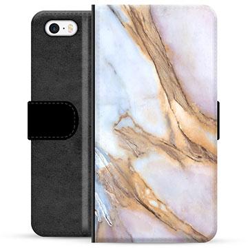 iPhone 5/5S/SE Premium Wallet Case - Elegant Marble