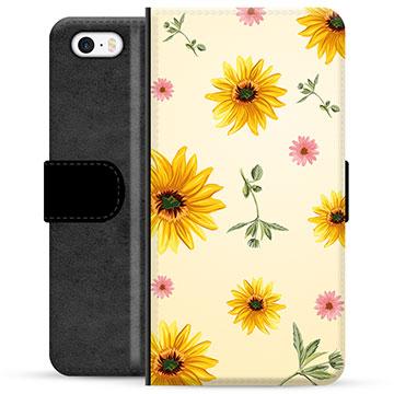 iPhone 5/5S/SE Premium Wallet Case - Sunflower