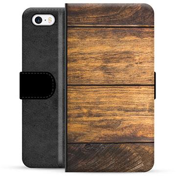iPhone 5/5S/SE Premium Wallet Case - Wood