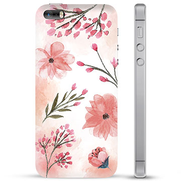 iPhone 5/5S/SE TPU Case - Pink Flowers