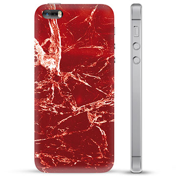 iPhone 5/5S/SE TPU Case - Red Marble
