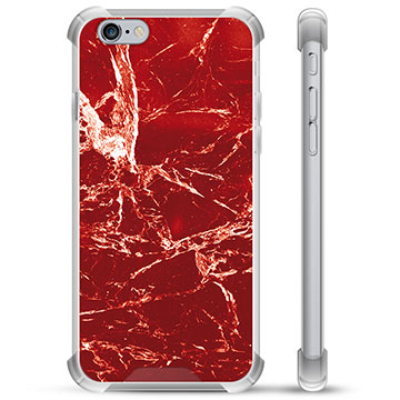 iPhone 6 / 6S Hybrid Case - Red Marble
