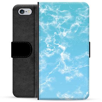 iPhone 6 / 6S Premium Wallet Case - Blue Marble