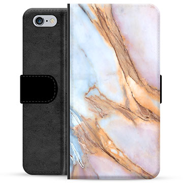 iPhone 6 / 6S Premium Wallet Case - Elegant Marble