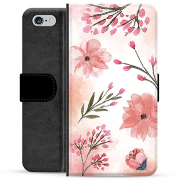 iPhone 6 / 6S Premium Wallet Case - Pink Flowers