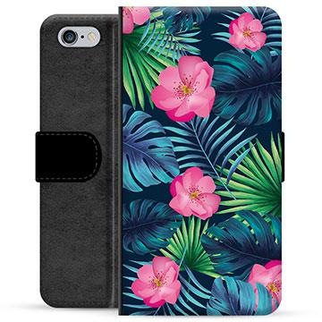 iPhone 6 / 6S Premium Wallet Case - Tropical Flower