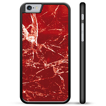 iPhone 6 / 6S Protective Cover - Red Marble