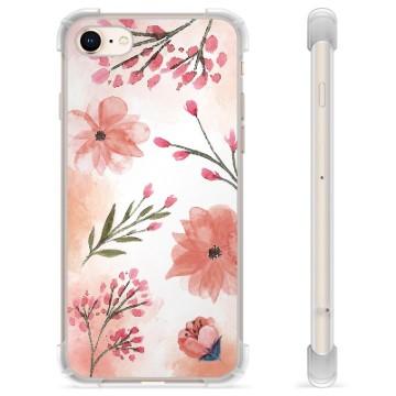 iPhone 7/8/SE (2020) Hybrid Case - Pink Flowers