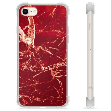 iPhone 7/8/SE (2020) Hybrid Case - Red Marble