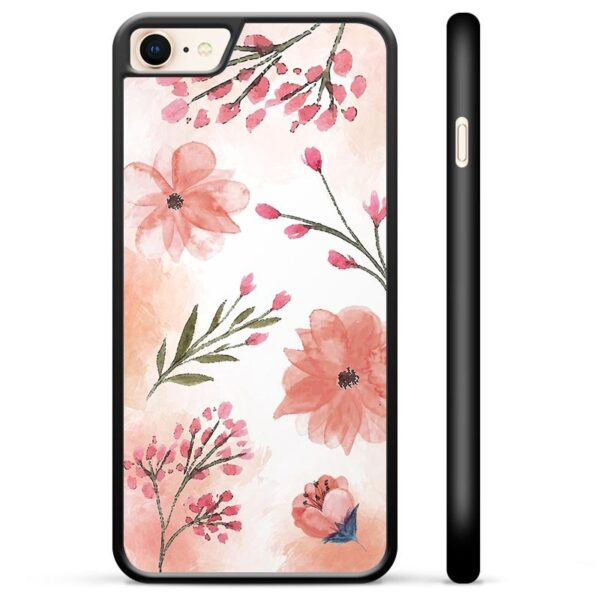iPhone 7/8/SE (2020) Protective Cover - Pink Flowers