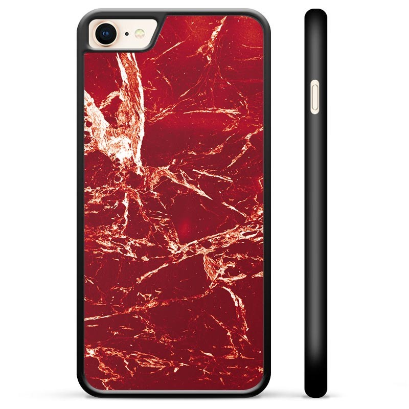 iPhone 7/8/SE (2020) Protective Cover - Red Marble