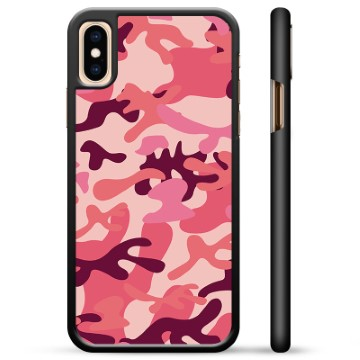 iPhone X / iPhone XS Protective Cover - Pink Camouflage