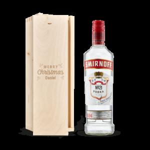 Vodka in engraved case - Smirnoff