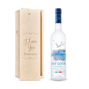 Vodka in personalised case - Grey Goose