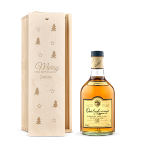 Whisky in engraved case - Dalwhinnie 15 Years