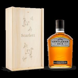 Whisky in engraved case - Gentleman Jack Bourbon