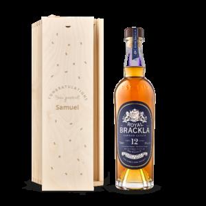 Whisky in engraved case - Royal Brackla 12y