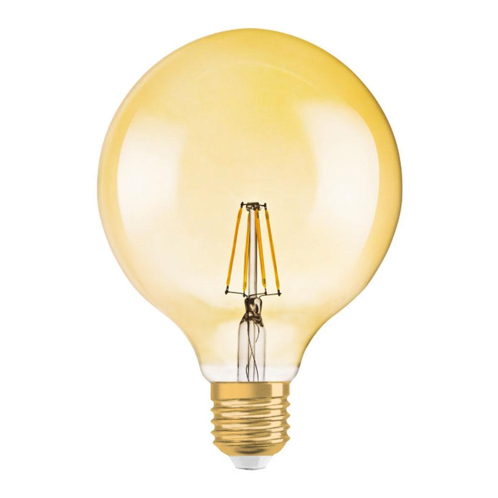 Osram Vintage 1906 LED E27 Globe 4W 824 Gold | Replaces 35W