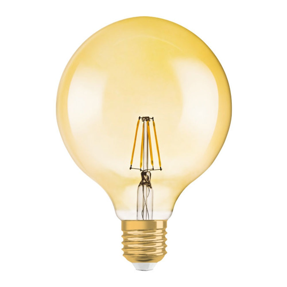Osram Vintage 1906 LED E27 Globe 7.5W 824 Gold | Dimmable - Replaces 50W