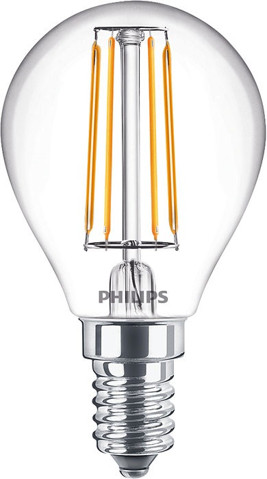 Philips Classic LEDLuster E14 P45 4.3W 827 Clear | Replaces 40W