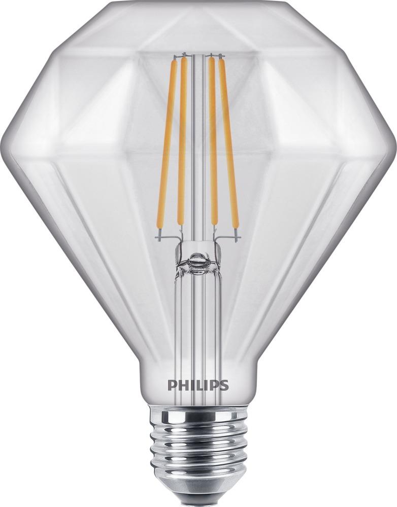 Philips Classic LEDbulb Vintage E27 Diamond 5W 827   Dimmable - Replaces 40W